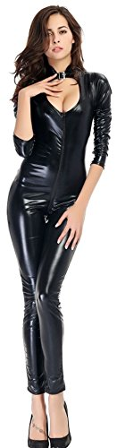 Ensnovo-Womens-Sexy-Halloween-Costume-Bodysuit-Clubwear-Catsuits-Jumpsuit-and-Rompers
