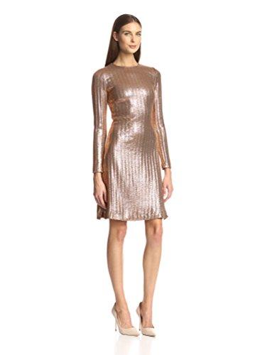 Christian Siriano Women's Metallic Knit Dress