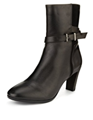 Footglove™ Leather Panelled Strap Boots