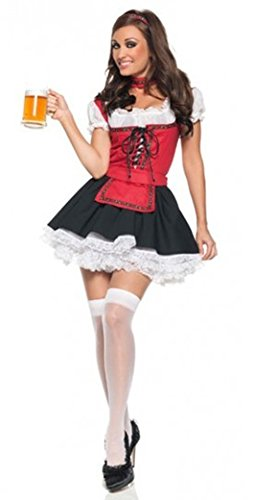Beer Festival Beer Girl Maidservant Oktoberfest Cosplay Party Costume Dress Clothes