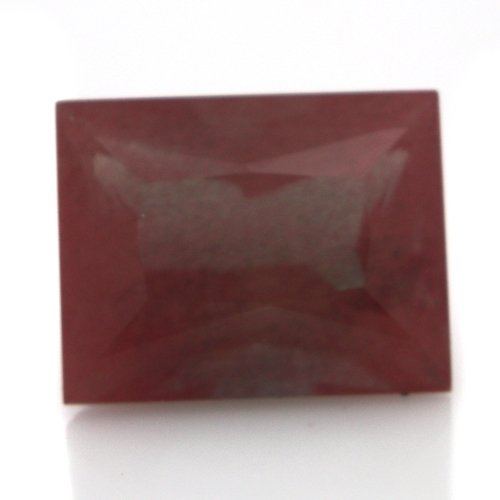 Natural Africa Red Andesine Loose Gemstone Baguette Cut 8*6mm 2.05cts SI Grade
