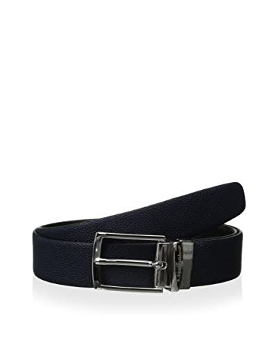 a.testoni Men's Reversible Caviar/Box Calf Belt