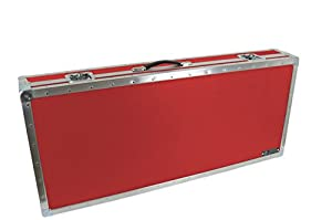 anvil solidbody electric guitar case plush lined red musical instruments. Black Bedroom Furniture Sets. Home Design Ideas