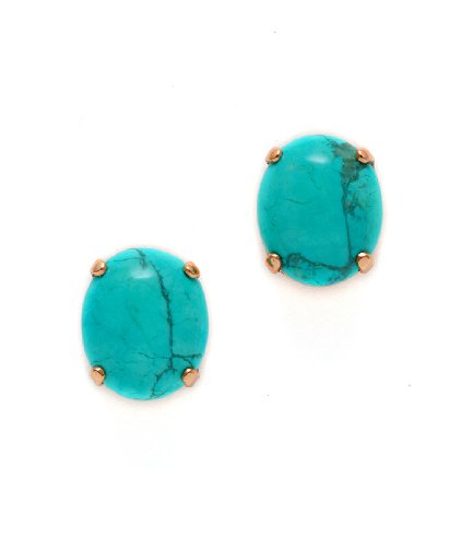 Amaro Jewelry Studio 'Ocean' Collection 24K Rose Gold Plated Gorgeous Earrings Designed with African Turquoise and Swarovski Crystals
