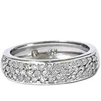 .50CT 14k White Gold Womens Diamond Wedding Anniversary Ring Band (G/H) Color (I1/I2) clarity
