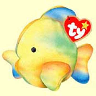 Coral the Tie-Dyed Fish - McDonald's Ty Teenie Beanie - 2000 #14 - 1