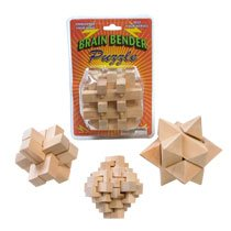 Cheap Fun Brain Benders – Mind Bending Wooden Puzzle – One Varied Puzzle (B000NZE3VO)