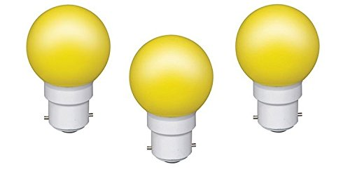0.5 W LED Light Bulbs Yellow (Set of 3)