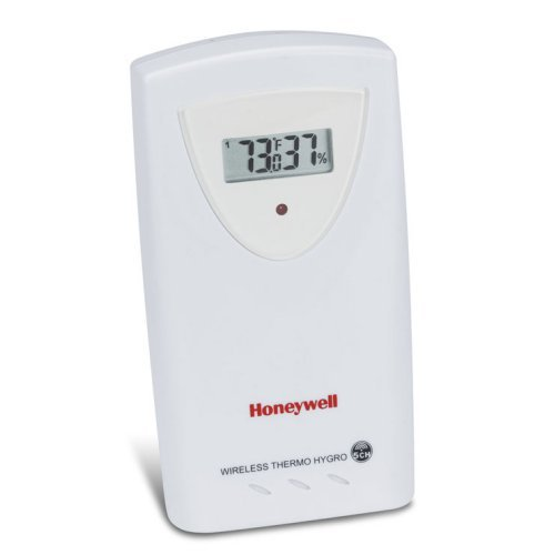 Honeywell TS34C Long Range Temperature and Humidity Sensor for Professional Weather Station TE923W, White