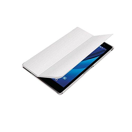 ELECOM SONY Xperia Z3 Tablet Compact フラップレザーカバー スリープ機能対応 ホワイト TB-SOZ3AWVMWH