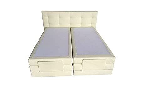 Boxspring Bett Lattenrost Relax-Kopf 180x 210cm in beige