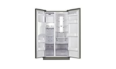 Samsung RS21HSTPN Side-by-Side Refrigerator (600 Ltrs, Platinum Inox)