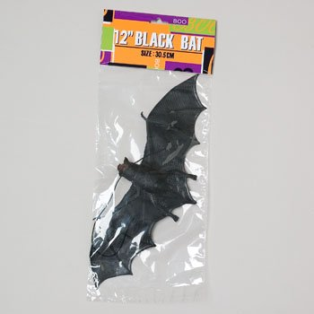 Hanging Black Bat W/black Elastic String