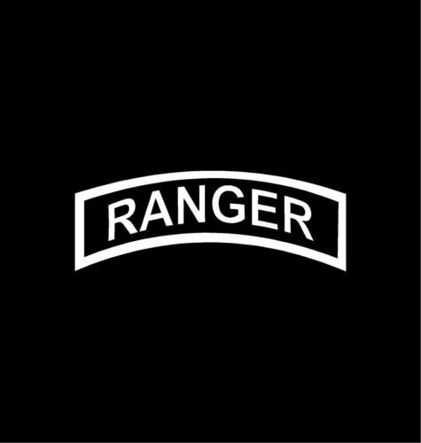 RANGER TAB Vinyl Decal Car Window Bumper Sticker Army Infantry, die cut vinyl decal for windows, cars, trucks, tool boxes, laptops, MacBook - virtually any hard, smooth surface (Ranger Decal compare prices)