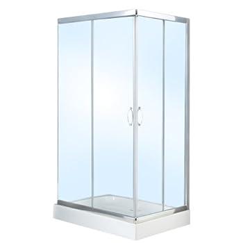 pas cher cabine de douche rectangulaire compl te paroi avec bac receveur de douche 2 portes. Black Bedroom Furniture Sets. Home Design Ideas