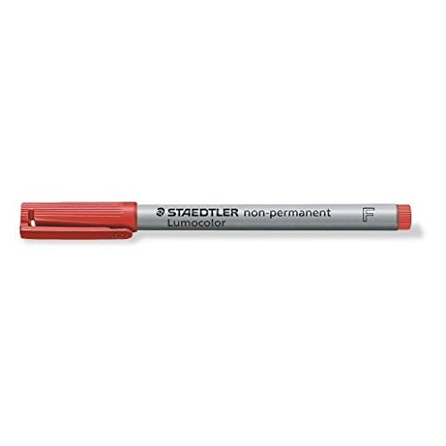 STAEDTLER Lot de 3 Marqueurs Lumocolor Non-permanent 316 Fin 0,6 mm Rouge