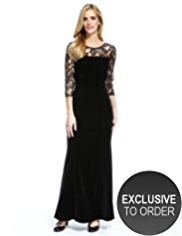 M&S Collection Lace Yoke Bodice Maxi Dress