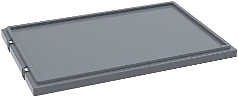 Akro-Mils Lid For Stack And Nest Tote Boxes - Fits Tote Boxes 44221 - Gray-Approved To Meet Fda Stan