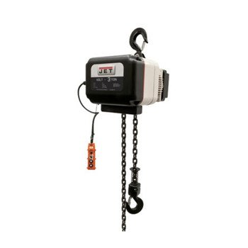 Jet 180230 Volt-300-13P-20 3 Ton 1-Phase/3-Phase 230V Electric Chain Hoist With 20 Ft. Lift
