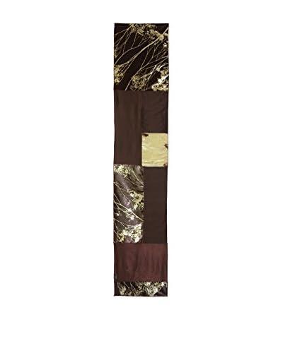Aviva Stanoff Hand-Pressed Signature Velvet Table Runner, Dark Kohl