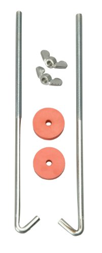 Road Power 966-10 General Motors J Hook Battery Hold down bolts, 2-Pack, Chrome, 10-Inch