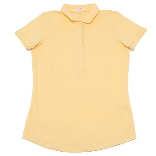 8103P polo gialla SUN 68 manica corta maglia donna t-shirt women [S]