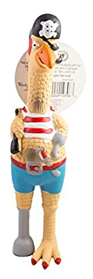 Westminster Pet Ruffin' It Captain Jack Chicken Latex Dog Toy