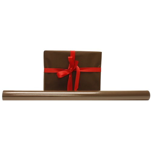 Chocolate Brown Solid 25 sq ft Wrapping Paper Rolls