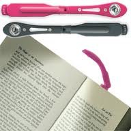Tiny led night reading book light *Clips onto pages* (black colour) 3 Batteries included