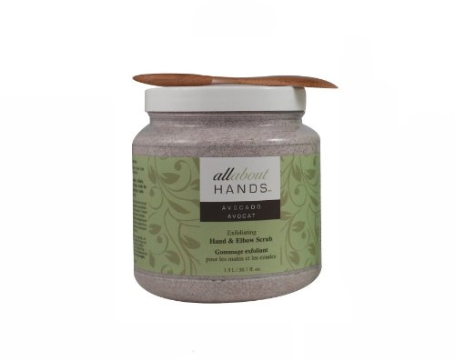Upper Canada Soap & Candle All About Hands Avocado Exfoliating Hand and Elbow Scrub - Salon Size, 50.7-Ounce Jar