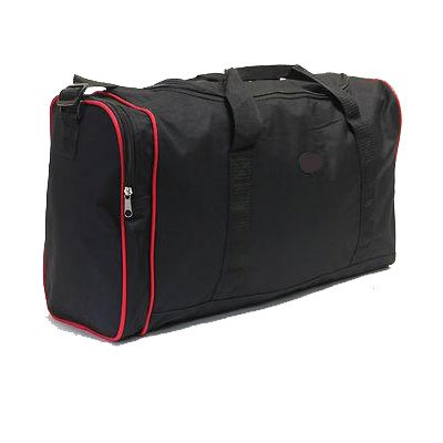 More4bagz Saw Cabin Approved Super Lightweight Wheeled Holdall Luggage Bag - Black / Tan - (Tan) by Borderline