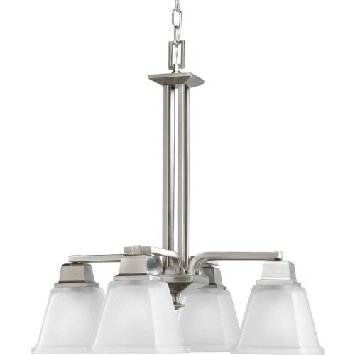Progress Lighting P4002-09 4-Light North Park Chandelier, Brushed Nickel
