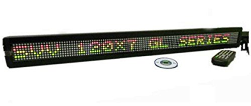 One Line Led Indoor Tri-Color Led Programmable Display Sign With Wireless Remote Control