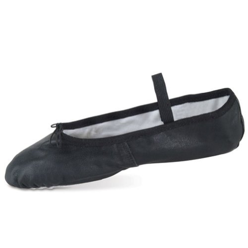 Danshuz Womens Black Deluxe Leather Sole Cushion Ballet Shoe 3.5-10