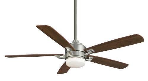 Fanimation FP8003SN 52-Inch Benito 5-Blade Ceiling Fan, Satin Nickel with Cherry/Walnut Blades