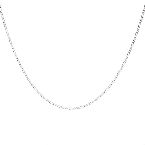 925 Sterling Silver 1.8MM Figaro Chain - Italian Crafted Necklace For Women - Spring Ring Clasp 24 Inch (Snake Ring Sterling Silver compare prices)