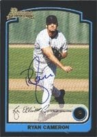 Ryan Cameron Carolina Mudcats - Rockies Affiliate 2003 Bowman Rookie Autographed Hand... by Hall of Fame Memorabilia