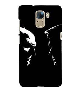 EPICCASE day vs night Mobile Back Case Cover For Huawei Honor 7 (Designer Case)