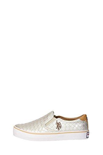 U.s. Polo Assn GALAD4149S6/Y1 Slip-on Donna Pelle Sintetico Oro Oro 40