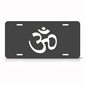 Hindu Om Sign Aum Sign Metal License Plate Wall Sign