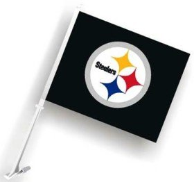 Pittsburgh Steelers 11x18 Double Sided Car Flag - Set of 2