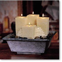 Relaxation Candle Fountain Envirascape Glowing Tiers (Homedics Envirascape compare prices)