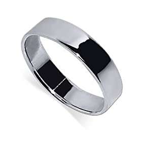 Stunning .925 Sterling Silver 6 MM Band Squared Ring