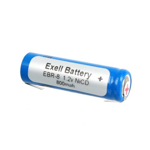 Exell 1.2V Razor Battery For Norelco Ronson,Windmere,Braun Razors Braun Types: 5556, 5561, 5563 Braun Models: 2500, 2501, 2505, 2514, 2515, 2520, 2525, 2530, Norelco 600Rx, Ronson Rfs-3, Windmere Rfs3 Replaces Razor-8