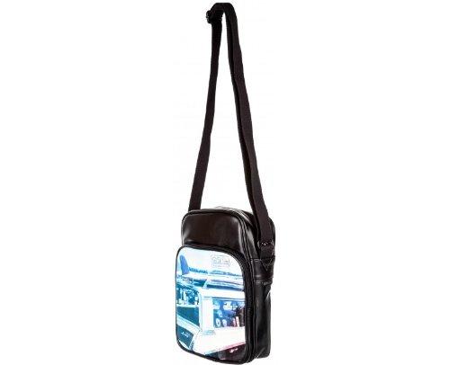 Quiksilver Reservoir borsa a tracolla, colore nero con stampa fotografica