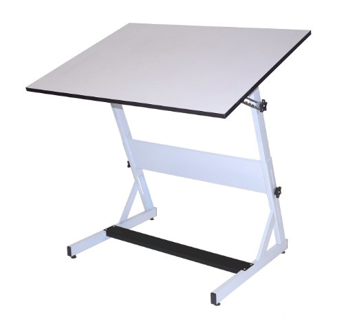 Martin MXZ Drafting-Art Table, White with White Tiltable Top, 31-1/2-Inch by 48-Inch Surface