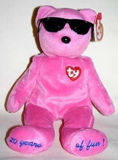 1 X TY Beanie Baby - SUMMERTIME FUN the Bear (PINK - Chigaco Gift Show Excl)