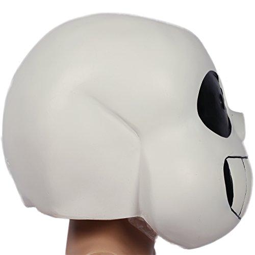 under sans helmet deluxe latex full head mask halloween cosplay costume props xcoser - Costume Props