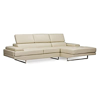 Baxton Studio Adler Right Facing Sectional Sofa