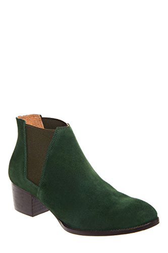 CHIO Charlton Low Heel Chelsea Boot - Suede Green